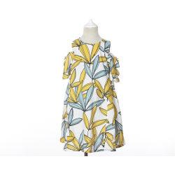Imprimé floral de l'épaule à froid de l'été fille Robes enfants Vêtements en coton