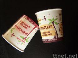 使い捨て可能なサラダプディングフローズンヨーグルトのペーパボールのアイスクリームのコップをカスタム設計しなさい