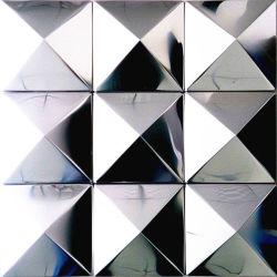 정면 위원회를 위한 은 색깔 3D 금속 외벽 은 알루미늄 격판덮개