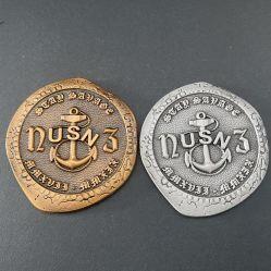 Antike Herausforderungs-Münze des Goldnickel Usn Navigations-Dichtungs-Team-fünf