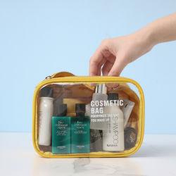 Luxe Zipper draagbare waterbestendige RPET Recyclable Organizer Clear Polyester Makeup Zak