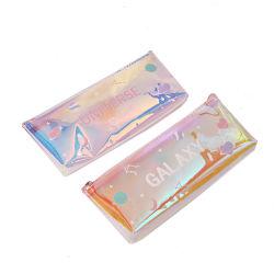 Saco de Arrumação personalizadas de PVC transparente Laser Papelaria estojo