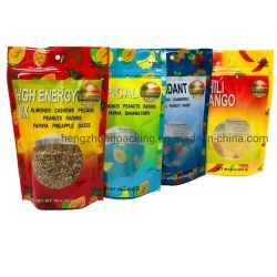 재활용 가능한 합성 생분해성 라미네이트 스탠드업 푸드 백 플라스틱 투명 스낵 견과류/음식을 위한 지퍼 파우치 포장
