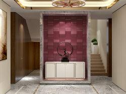 ホーム装飾音響PUの泡は3D壁紙の壁のステッカーにパネルをはめる
