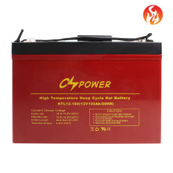Cspower 12V 100Ah/200AH/300Ah haute température-Solar-Gel-Deep-Cycle-VRLA rechargeables-SMF-Batteries industrielles