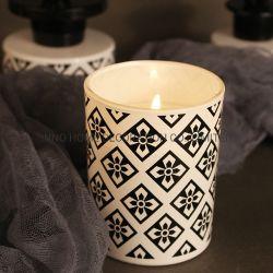 [200غ] يشمّ شمعة مع يلوّن زجاجيّة وأسود معدن غطاء لأنّ بينيّة رائحة شمعة