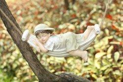 Wonderful Tuiniing Gift Sleeping Little Boy Statue Poly Resin Figures