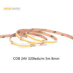 COB 320 LEDs/M 4,5 W RA90 tiras LED flexíveis