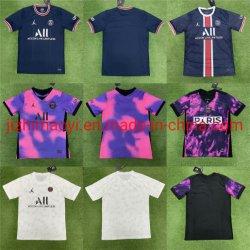 도매 2122 태국 축구 저지 P-S-G 홈 어웨이 티셔츠 의류 의류 의류