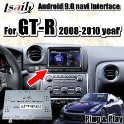 Auto-videoschnittstelle des Android-9.0 für Gt-R 2008-2016 mit GPS-Nautiker, IOS/androides Carplay durch Lsailt