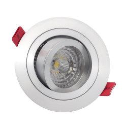 De aluminio torneado MR16 GU10 LED Empotrables de inclinación de la Ronda de luz tenue (LT2300)