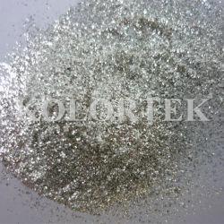 Escamas de plata brilla, recubierto de escamas de silicato de plata