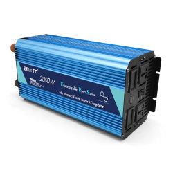 110V/120V/220V/230V/240V/380V AC Invertor 2000watt de puissance avec chargeur