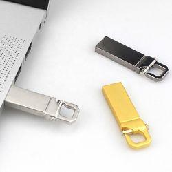 Neues Metall-USB-Stock 32GB 64GB Pendrive der u-Platte-4GB 8GB 16GB Feder-Laufwerk USB-Blitz-Laufwerk USB-2.0 mit Schlüsselring mit kundenspezifischem Firmenzeichen
