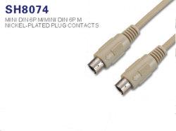 AV DIN Cable-Mini 6p vers mini-DIN 6p (SH8074)