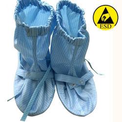 Haut de la qualité d'utilisation en milieu de travail ESD Chaussures pour salle blanche de couvrir les bottes antistatique