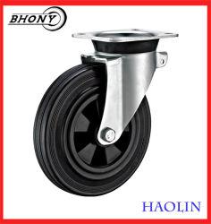 Afvalbak 150 mm en 200 mm draaibare remplaat stalen rubberen wielspoorbreedte Zwenkwielen (EN840)
