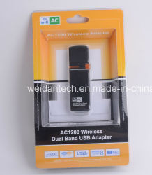 AC 1200Mbps Banda Dupla 2.4G e 5g Adaptador USB3.0