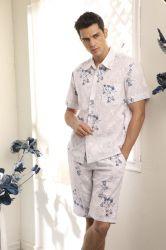 La moda Pajama Mens Mens Homewear dormir batas batas Palo (ALM-A9304)