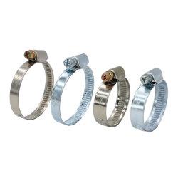 Tipo tedesco fascetta stringituba dell'acciaio inossidabile galvanizzato o di DIN3017 con la larghezza di banda di 12mm e di 9mm