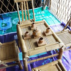 옥외 정원 등나무 테이블과 쌓을수 있는 등나무 의자를 식사하는 대나무 안뜰 가구