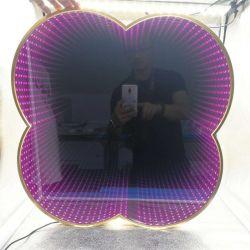 Decoração de parede decorativos PERSONALIZADOS 3D levou o espelho de beiral infinito com luzes