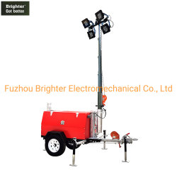 Lámpara de LED Mobile de la luz de la torre de enfriamiento con agua y Low-Noice