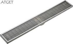 PD-33125 Badezimmer-Zubehör Edelstahl langer Bodenablauf (Satin-fertig)