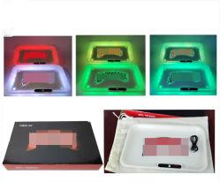 Bandeja aquecedora grande tabuleiro de Rolagem Vermelho Azul Multi luz de LED da bateria recarregável