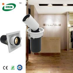 Doppelte Decke des Kopf-50W vertiefte eingehangene Viereck PFEILER LED Punkt-Bohnen-Abschürfung-Lampen-Vorrichtung des Gitter-D