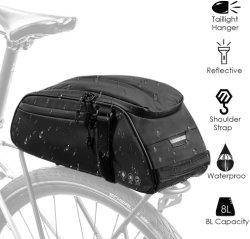 Sacchetto riflettente resistente della cremagliera della bici del sacchetto della sede di bicicletta dell'acqua