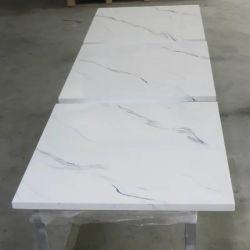 Efecto de mármol blanco, hojas de acrílico para paneles de pared