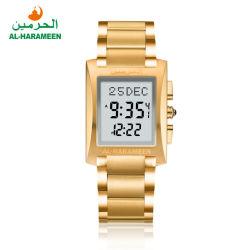 Islamische Azan Uhr-Manufaktur der Goldsilberne Farben-Ha-6287 Ramadan