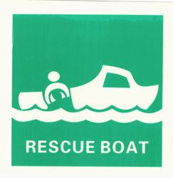 Les panneaux luminescents maritime des bateaux de sauvetage des symboles de l'omi