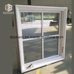 Manivela de madera sólida blanca ventana abierta, el marco de la ventana de madera