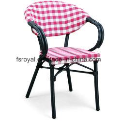 Outdoor chaise de jardin Restaurant Café Aluminium-polyester Filet Fauteuil de salle à manger
