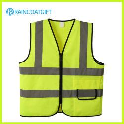 Gilet de sécurité de l'environnement vert néon