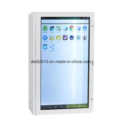 Pantalla táctil LCD de 43 pulgadas transparente mostrador de exposición para el Centro Comercial