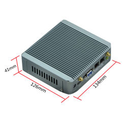 PC nana dual de la base J1800 de Fanless del rastro de la bahía/PC del coche/mini soporte de ordenador del rectángulo WiFi/3G