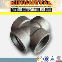 3000lb/6000lb/9000lb de aço carbono A105 Socke Cruz Forjadas de soldadura