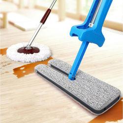 Balai plat recto-verso automatique Poignée de confort télescopique Mop Outil de nettoyage de plancher de la Famille Salon Cuisine des outils propres