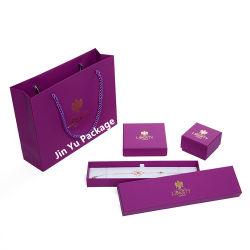 Forme Rectangle de couleur violet Bijoux boîtes d'emballage cadeau élégant