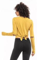 Тренажерный зал износа женщина Custom Tshirt с хлопок спандекс ткань