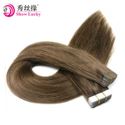 Preiswerter Fabrik-Großhandelspreis-voller Kopf gesetztes Inder-Menschenhaar der PU-Band-Haar-Extensions-20pieces