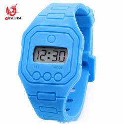 最もよい上等の広告の昇進の安いプラスチック習慣LEDの軽い腕時計#V808