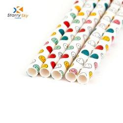 Trinkhalm-Mischfarben-Papierstrohe