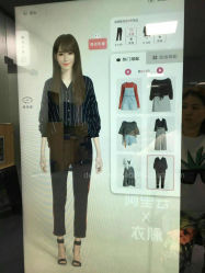 """Dedi 55 """" Digital Signage LCD-Magie, die den intelligenten Touch Screen kleidet Spiegel bekanntmacht"""