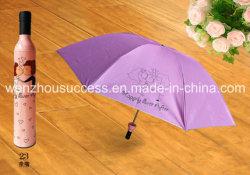 A impressão de publicidade promocional guarda-chuva de garrafas de vinho