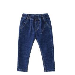 Simple droite bleu foncé taille élastique Boy Kid Jeans