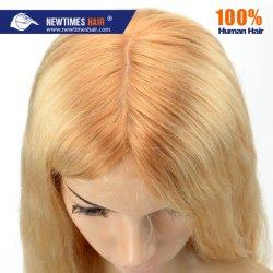 Haut fait sur mesure de la dentelle avec de la soie naturelle des cheveux humains toupee de séparation pour les femmes